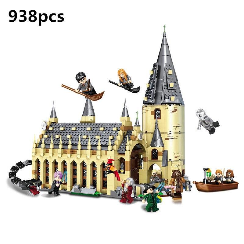 Harri Hogwarts Potter Großen Halle Express Burg Bausteine Bricks DIY Spielzeug für kinder Geschenk Kompatibel Mit legoing batman