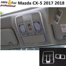 Переключатель салона автомобиля панели Стик Chrome ABS передних + Задняя читать Чтение свет лампы Накладка для Mazda CX-5 CX5 2017 2018