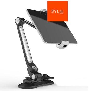 Универсальный планшеты автомобиля подножка; алюминиевый сплав Arm эргономичный 360 градусов Поворотный Двойной Sucker ленивых людей стенд для ...