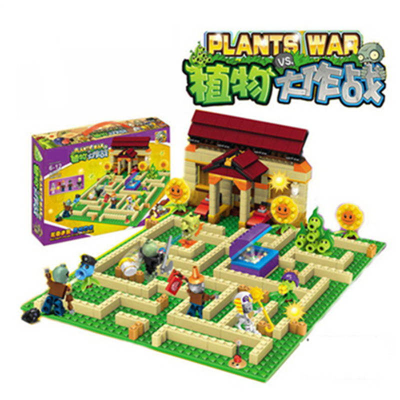 New plants vs zombies struck game toy action toy & figures Building Blocks Bricks Compatible With Legoingly my world minecraft new arrival plants vs zombies plush toys 30cm pvz zombies soft stuffed toy doll game figure statue for children gifts party toys