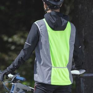 Image 4 - ROCKBROS Running Reflective Vest Outdoor Sport Safety Jerseys Cycing Bike Sleeveless Riding Bicycle Vest Men Women Light Vests