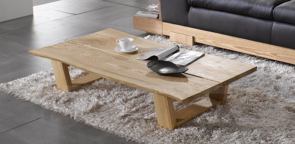 Solid Wood Coffee Table Minimalist Long Coffee Table Furniture Exports Original Single