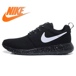 size 40 5161d 67f14 Original New Arrival Authentic NIKE ROSHE RUN Men s Breathable Running  Shoes Sport Outdoor Sneakers Good Quality