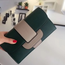 2017 Soft Genuine Leather Women Clutch Bags Cowhide Envelope