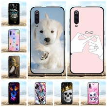 For Xiaomi Mi 9 Cover Ultra-thin Soft TPU Silicone Protective Case Dog Patterned Bumper Shell