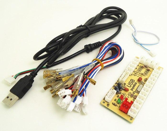 однопользовательский ПК для аркадной игры, кнопка и джойстик, мультимедийный энкодер MAME Keyboard, USB для аркадной игры