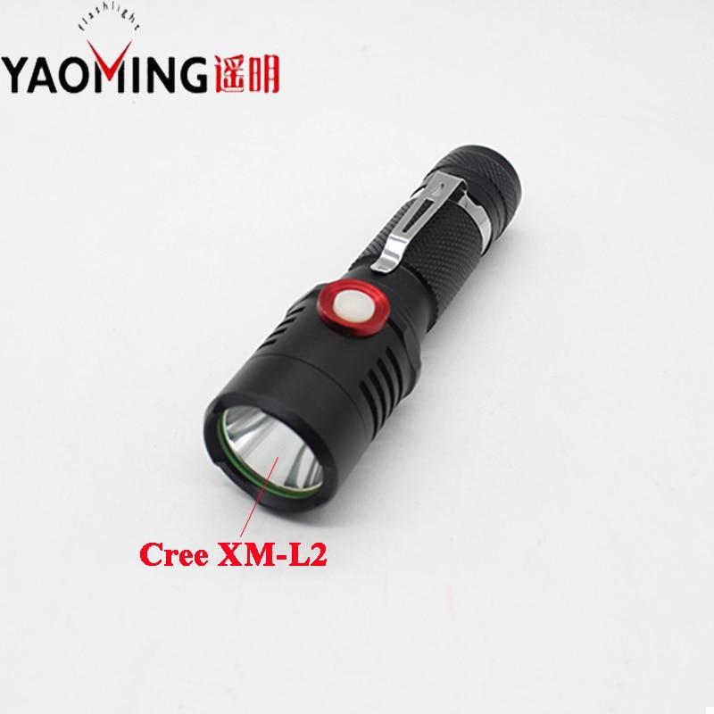 Cree XM-L2 U2 močna LED svetilka 3800 lumnov taktična vodila luči - Prenosna razsvetljava