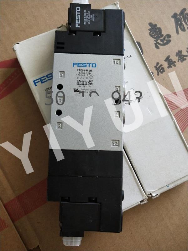 CPE18-M1H-5/3E-1/4 170249 CPE18-M1H-5J-QS-8 163151 CPE18-M1H-5JS-1/4 163147 FESTO Solenoid valve Pneumatic components [sa] genuine original special sales festo solenoid valve cpa10 m1h 5js spot 173450 2pcs lot