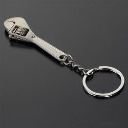 Quente mini metal ajustável ferramenta chave chave inglesa chaveiro anel presente 2017 de alta qualidade moda