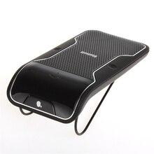 Kit de coche 2016 junta sol-shading de manos libres con altavoz altavoz inalámbrico bluetooth manos libres kit de coche para el iphone con el coche cargador