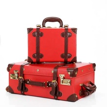 Suitcase-Set Trolly-Bag Carrylove Retro Women Spinner Wheels with 20-24-