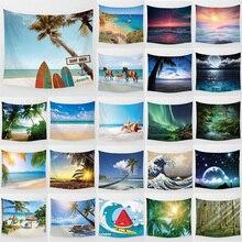 Единорог большой гобелен красота море пляж пейзажи настенные Висячие гобелены домашний декор прямоугольник спальня настенный ковер на стену с рисунком