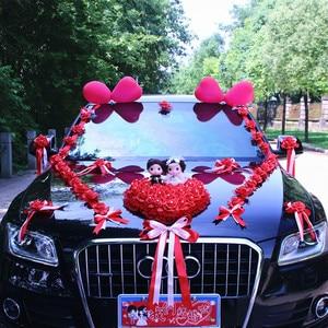 Image 5 - New Arrival  !  Wedding Cars Flower Cars  Wedding Centerpieces Decor  Motorcade Simulation Flowers Set with Bear  Bridal Flower