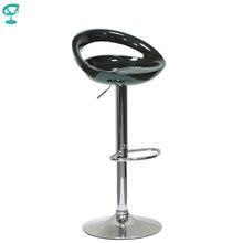 94149 Barneo N-6 пластиковый поворотный кухонный высокий барный стул на газ-лифте цвет черный мебель для кухни кресло для бара по России