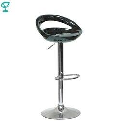 94149 بارنيو N-6 البلاستيك عالية المطبخ الإفطار بار البراز قطب كرسي طويل الساق الأسود شحن مجاني في روسيا