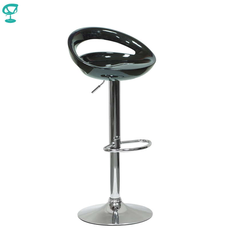 94149 Barneo N-6 Plastic High Kitchen Breakfast Bar Stool Swivel Bar Chair Black Free Shipping In Russia