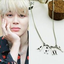 LMIKNI BTS Kpop ARMY Necklace Women Men Jewelry Collier Korea Fashion BTS Album Love Yourself Accessories 2017