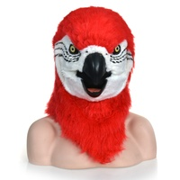 Red parrot moving mouth mask party mask Halloween mask