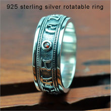 Good Luck Ring 100% Real Pure 925 Sterling Silver Ring Retro Engraved Mantra silver 925 big sizes Brand Men Jewelry HYR69
