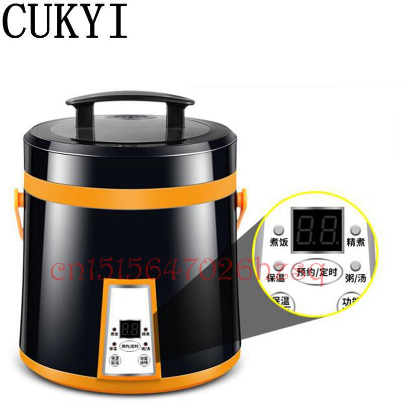 CUKYI 220V/110V 300W Household MIni Portable electric rice cooker Multifunctional Cooking Porridge cooker For Kitchen cukyi household 3 0l electric multifunctional cooker microcomputer stew soup timing ceramic porridge pot 500w black
