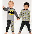2017 New Boys Children's Suits Casual Batman 2 Pcs Sleepwear Long Sleeve Pajamas Cartoon Suits Free Shipping