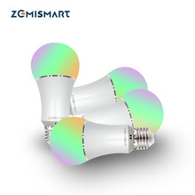Zmismart 4 Pieces Led Bulb Dimmer 6W Wifi Smart Light Bulbs Remote Control ColorfulWorks With Alexa Echo E26 E27 RGB IFTTT