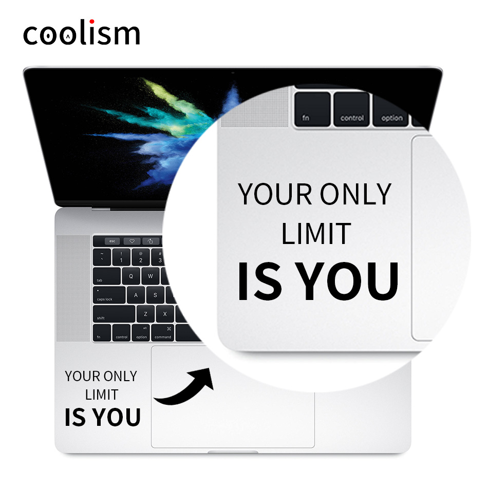 Inspirational Quote Laptop Trackpad Decal Sticker for 11 12 13 15 Macbook Air/ Pro/ Retina Vinyl Mac Notebook Touchpad Skin