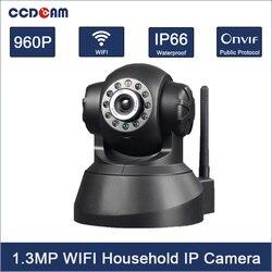 CCDCAM H.264 1.3MP HD 960 P kamera IP P2P Pan IR Cut sieci bezprzewodowej WiFi kamera bezpieczeństwa IP