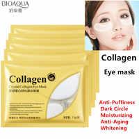 Máscara de colágeno para el cuidado de los ojos máscara de sueño sin edad vendas oculares círculo oscuro cuidado de la cara máscara de cuidado de la piel blanqueamiento 7,5g * 10 pares