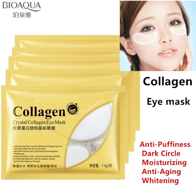 Collagen Eye Mask eye care Ageless Sleep Mask Bandages Ocular Dark Circle Face Care Face Mask Skin Care Whitening 7.5g*10 pairs Онихомикоз