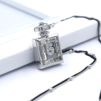Strass Perfume Bottle Pendant Long Necklaces Luxury Brand Women Designer Jewelry For Best Friend Ladies Lover
