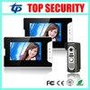 7 Color Video Door Phone Video Intercom 2 Monitor Doorbell Camera Intercom Kit IR Night Vision