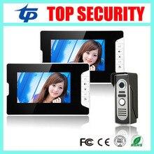 7″ Color Video Door Phone Video Intercom 2 Monitor Doorbell Camera Intercom Kit IR Night Vision Camera for Apartment Village
