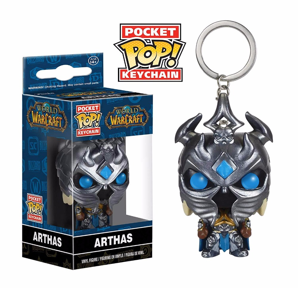 Funko POP Famous Game Character WOW Fall Of The Lich King ARTHAS Brinquedos Keychain Action Figure Toys For Children Gift