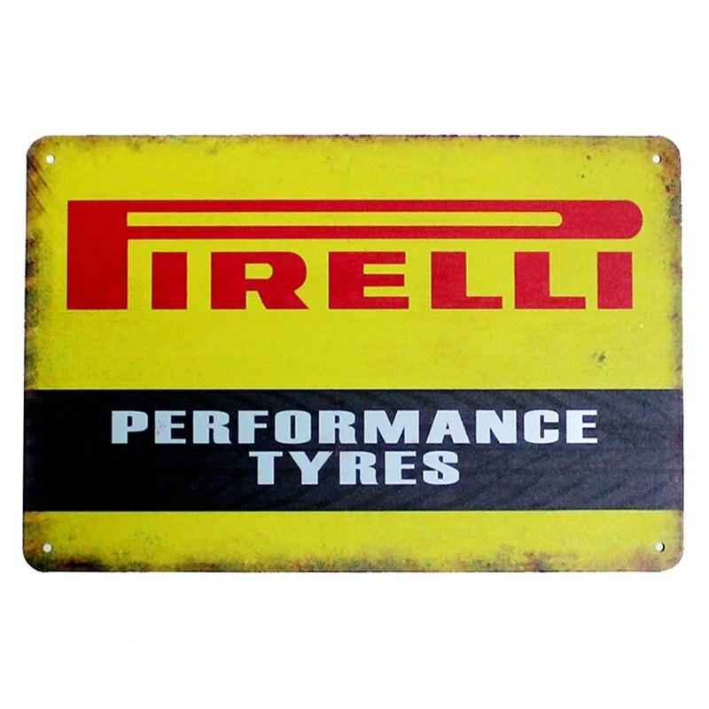 Performance Pneus. signes métalliques vintage tin plaque image de fer le mur décoration pour bar café maison garage