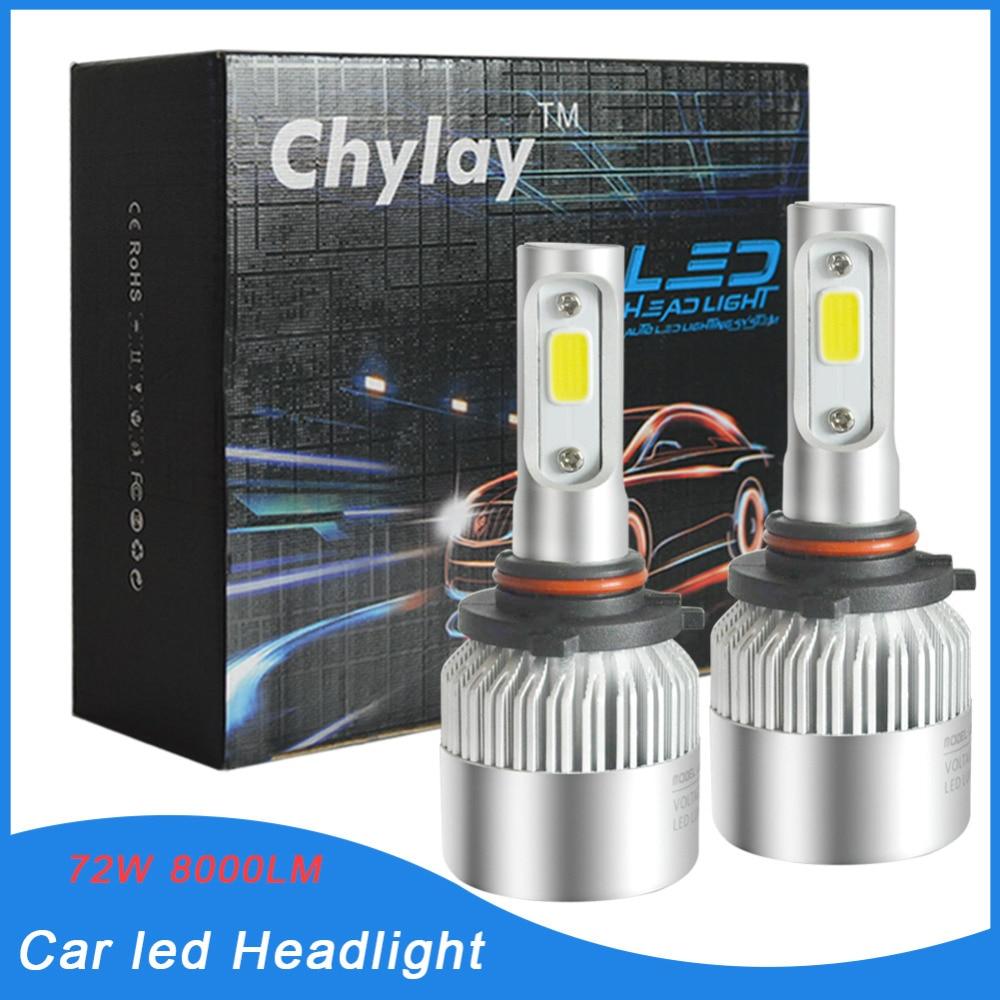 Lampu LED Mobil Bulb 72W 8000LM 9005 Auto Lampu Depan Mobil Headlamp - Lampu mobil - Foto 1