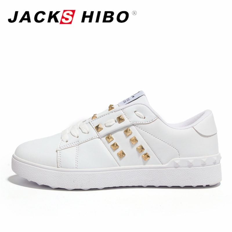 JACKSHIBO Womans Shoes Fashions 2018 Spring Design Women Shoes Rivet - Zapatos de mujer - foto 2