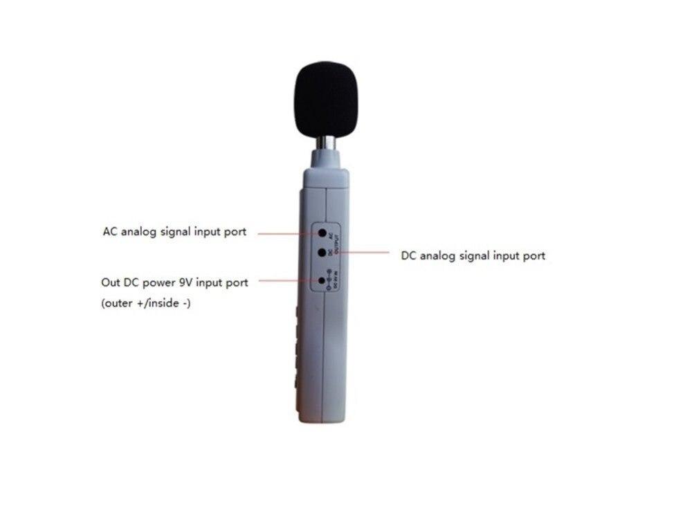 AS824 plus grand écran d'affichage à cristaux liquides de poche compteur de niveau sonore numérique compteur de décibels de bruit 30 ~ 130 dB compteur de bruit - 5