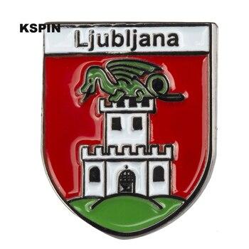 Ljubijana Metal Badge Lapel Pins Brooch Jewelry Rozet in Badges Pin XY0360