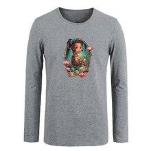 Retro mujer maravilla amazon retrato impresión personalizada camiseta de algodón de manga larga camiseta regalos para niño ocasional ropa anime cosplay tops