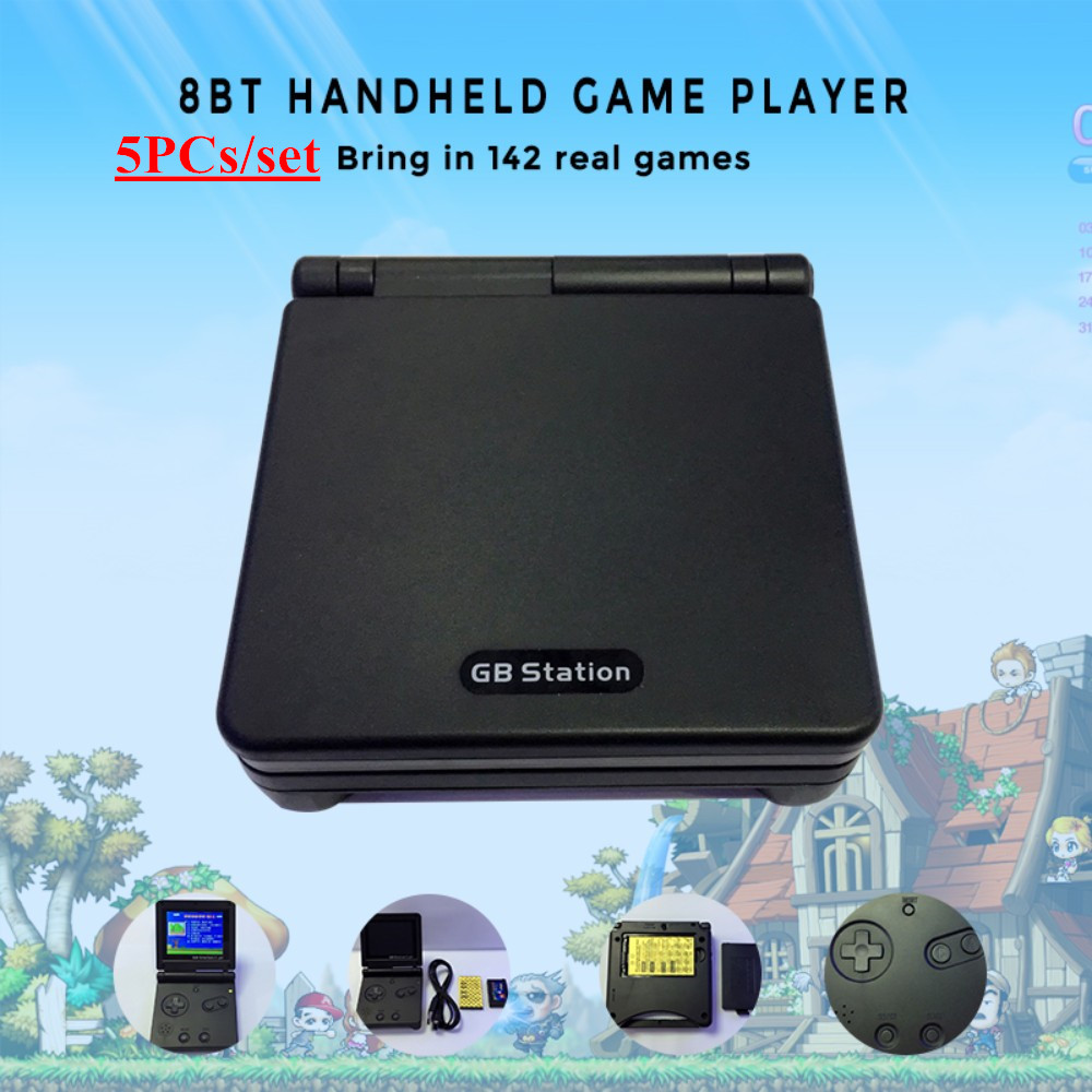 5PCs/Set GB Station Light boy SP PVP Handheld Game Player 8-Bit Game Console Bulit-in 142 Games 2.7'' LCD Retro Style Gaming retro mini family console 8 bit classic tv game consoles with 500 games