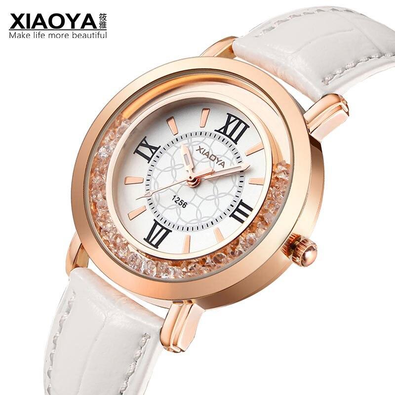 XIAOYA Brand Luxury Ladies Quartz Watch Women Leather Strap Clock Relogio Feminino Fashion Women Wrist Watches Montre Femme 2019