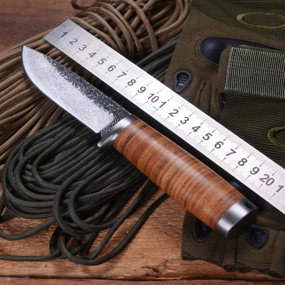 WOLF TATOO Brand A39 Handmade Hunting font b Tactical b font Fixed Blade font b Knife