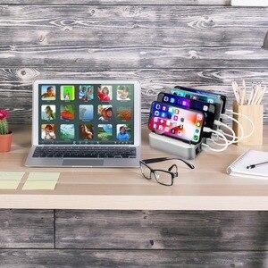 Image 5 - Зарядная станция с 4 портами USB 3,1, Тип C, 40 Вт, двойная зарядная станция PD, настольное зарядное устройство для iphone, Samsung, Huawei, док станция