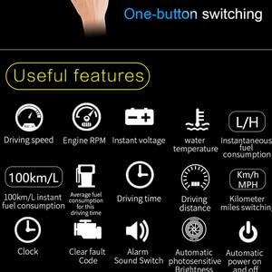 Image 4 - GEYIREN head up ekran C600 OBD2 akıllı ekran hız göstergesi sıcaklık araç elektroniği hızlı projektör HUD ön camda