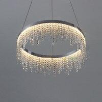 Современная светодиодная люстра Lustre огни скандинавские люстры для спальни потолок гостиная искусство бар Хрустальная цепочка подвесные л