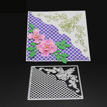 AZSG Flowers Dies Cutting Dies for DIY Scrapbooking die Decoretive Embossing Stencial DIY Decoative Card die cutter bohemian geometric set art cushion cover decoration for home house sofa chair seat pillow case kids gift friend bedroom present