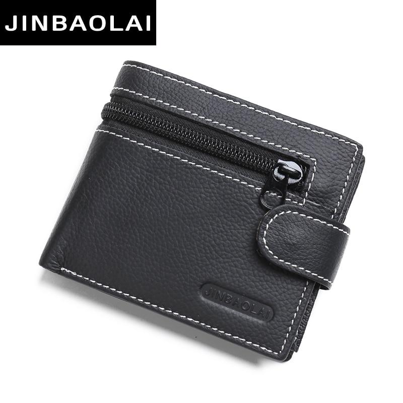 JINBAOLAI brand Wallet men genuine leather men wallets purse short male lea..