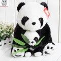 Мать панды провести бамбук панда плюшевые игрушки куклы дети Плюшевые игрушки