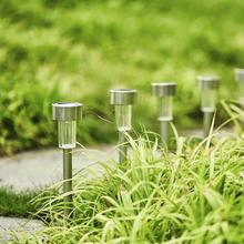 12 pieces LED Solar Garden Light 1.2v 40mah Stainless Steel Outdoor Waterproof   Lamp цена